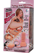 Vibrating Expandable Butt Buster  5.5 Inch Flesh