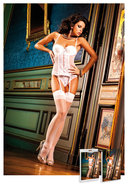 Sheer Thigh High W/ Backseam White(disc)